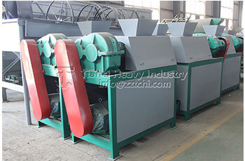 3tons per hour capacity double roller press granulator machine shipment to Turkey