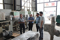 Australian customers Visiting Site of  Organic Fertilizer Disc Granulation Production Line in Tianci Factory